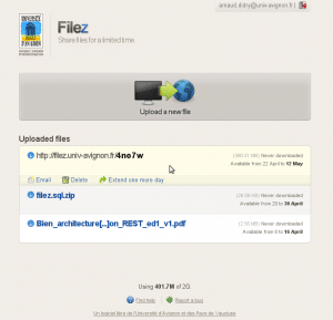 filez main page